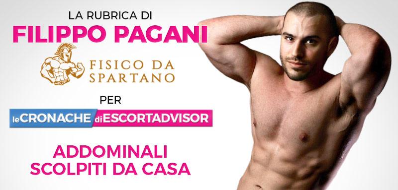 """Addominali scolpiti da casa? Terzo appuntamento con Filippo Pagani per un """"Fisico da Spartano"""""""